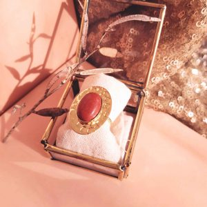 photo bague izy jaspe rouge