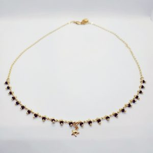 photo collier étoile Kahli noir