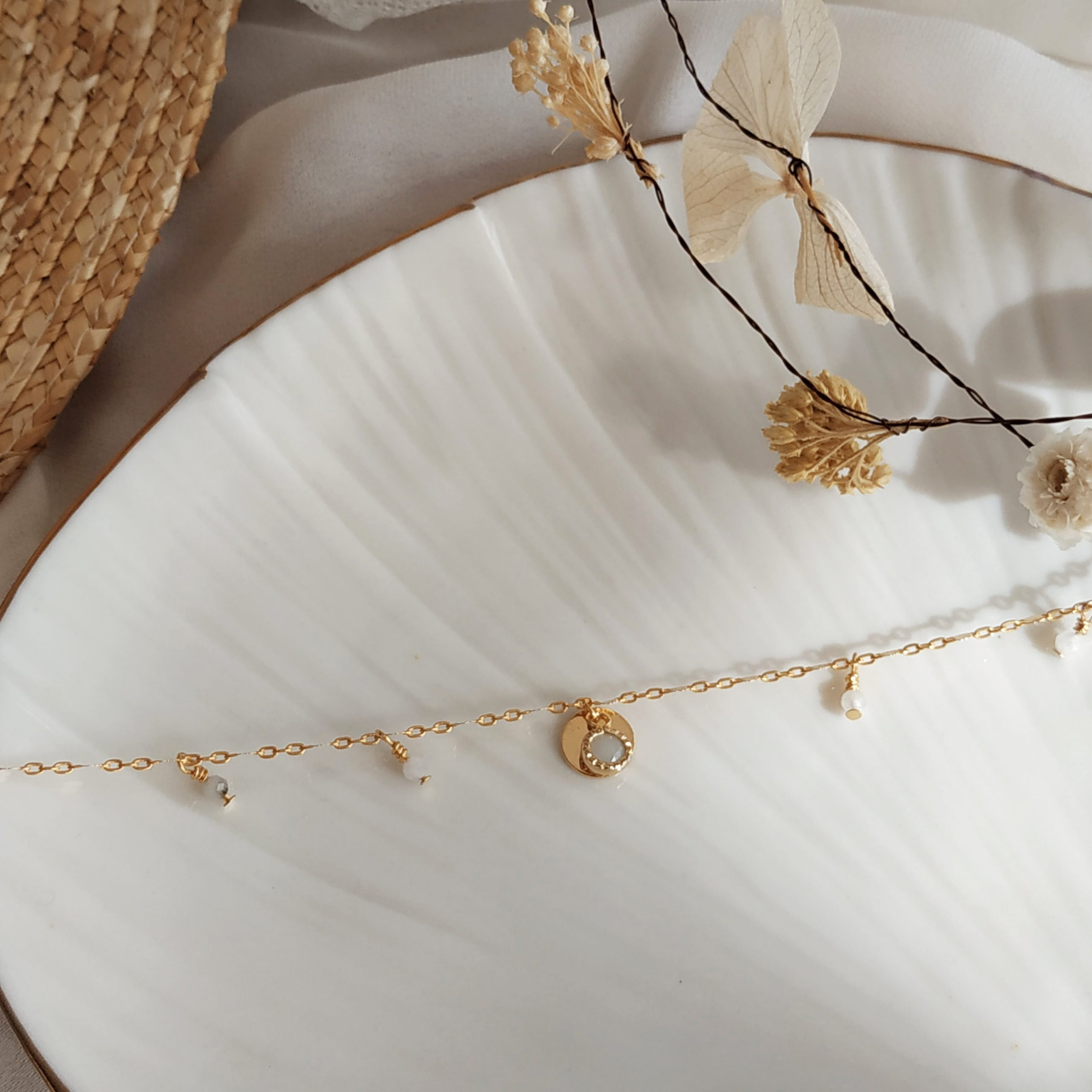 photo bracelet eluard quartz cristal blanc
