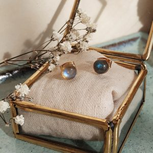 photo boucles oreilles lou labradorite