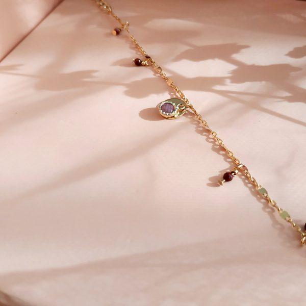 photo bracelet eluard rhodonite rose